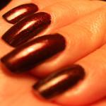 Dagens naglar – rött glitter