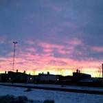 Fantastisk soluppgång