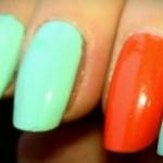 Essie – Mint Candy Apple + Vermillionare