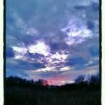 Dagens solnedgång