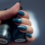 Nubar – Stylish Peacock + Blue/Silver Glitter