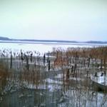 Vinter vid bryggan