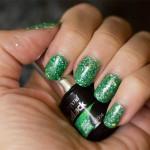 Grön Onsdag: Depend – GelLack – Neon Green Glitter