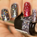 Depend – Midnight Glitter + Red Passion Glitter (gellack)