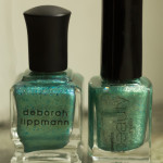 Jämförelse: Deborah Lippman – Mermaid's Dream vs Gina Tricot – Turquise Dust